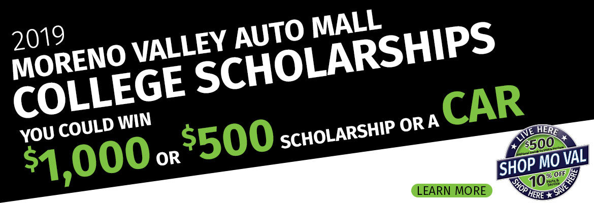 Moreno Valley Auto Mall College Scholarship